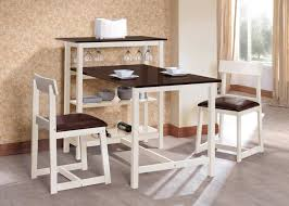 three piece dining set:  piece white dining set with storage