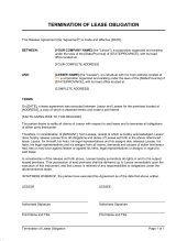 termination of lease obligation early lease termination letter template
