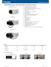 GV-BX3400 Series 3MP H.264 <b>WDR</b> Pro D/N Box IP Camera