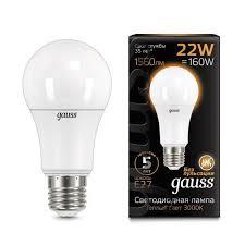 <b>Лампа Gauss LED A70</b> 22W E27 3000K