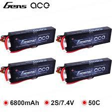 4 шт., <b>аккумулятор Gens</b> ace <b>Lipo</b> 2S, 6800 мА/ч, 7,4 В ...