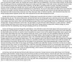 of mice and men essay on friendshipfriendship theme in of mice and men