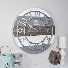 Shabby <b>Wood Plank Wall Clock</b> | Kirklands