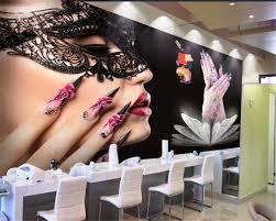 <b>Beibehang Custom</b> wallpaper mural any <b>size</b> beauty salons nail ...