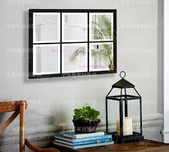 mirror wall decor circle panel: aliexpresscom buy metal wall mirrored art square wall decor