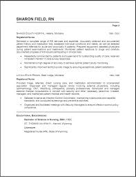 sample of a nurse resume sample work resume