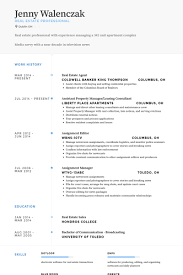 real estate agent resume samples   visualcv resume samples databasereal estate agent resume samples