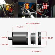 LQKJ.LTD Universal Motorcycle Brake Clutch Fluid Reservoir Oil ...