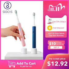 SOOCAS SO WHITE <b>PINJING EX3</b> Sonic <b>Electric</b> Toothbrush ...