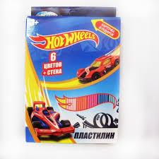 <b>Пластилин CENTRUM Hot</b> Wheels 6цв. 120г со стеком в ...