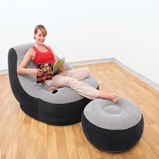 <b>Intex 68564 Надувное кресло</b> 99х130х76см с пуфиком 64х28см ...