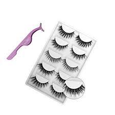 Miss Kiss 5 Pairs Eyelashes, 3D Faux Mink Lashes ... - Amazon.com