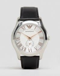 <b>Часы</b> с черным кожаным ремешком <b>Emporio Armani AR1984</b> | ASOS