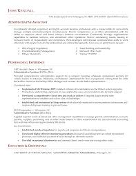 resume examples sample resume administrative assistant cover sample resume of executive assistant