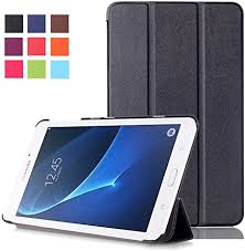 Samsung <b>Tab</b> A6 7inch <b>Case</b> - <b>PU Leather</b> Tri-Fold Stand <b>Cover</b> ...