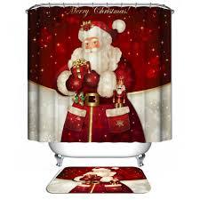 bathroom decor holiday shower curtain styles christmas shower curtain new santa claus font b christmas b font font