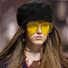 Peekaboo red oversized square sunglasses women <b>transparent</b> ...