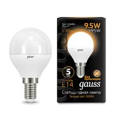 Лампочка <b>105101110 Лампа Gauss LED</b> Globe E14 9.5W 890Lm ...