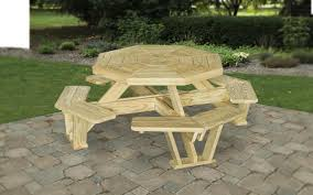 patio dining area wood table
