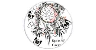 FEN-GZD 150 * 150cm Dream Catcher <b>Round Printed Beach</b> Towel ...