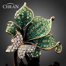 <b>Chran</b> New Green Crystal Rhinestone Butterfly Fashion Ring, Red ...