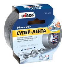 Клейкая <b>лента Unibob Супер</b>-<b>Лента</b>, 50 мм х 25 м, серая - купите ...