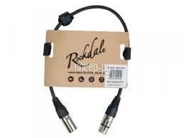 Купить <b>Кабель Rockdale XLR 50cm</b> MC001-50CM по низкой цене ...