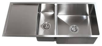 undermount kitchen sink stainless steel: ariel undermount double bowl kitchen sink with drain board stainless steel quot kitchen