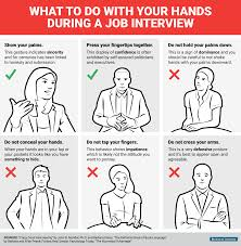 what to do your hands during a job interview business insider bi graphics what to do your hands during a job interview 02