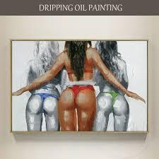 Hand painted Modern Wall <b>Art Naked Woman</b> Oil <b>Painting</b> on ...