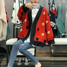 <b>2020 Autumn Sweater</b> Loose Korean Long Sleeve V Collar Jacket ...