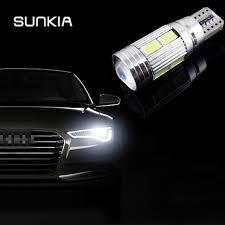 SUNKIA <b>2Pcs</b>/<b>Lot</b> W5W <b>T10</b> ERROR Free Interior White <b>LED</b> ...