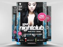 psd nightclub party flyer template nightclub flyer template