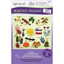 Quilled Creations Quilling Kit, Monthly Holiday Gift Tags - Amazon.com