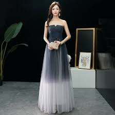 Modern / <b>Fashion Navy Blue</b> Gradient-Color Ivory Prom Dresses ...