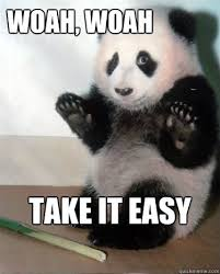 Panda Take It Easy memes | quickmeme via Relatably.com