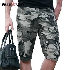 FreeArmy Men's Shorts With Pockets Military Cargo Shorts Summer ...