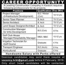 jobs in construction company published in express newspaper on  construction company