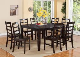 Square Dining Room Table With 8 Chairs Rustic 9 Pc Square Dining Room Table For 8 Person Seat Chairs Set