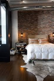 daniels eclectic industrial loft house tour bedroomterrific eames inspired tan brown leather short