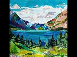 Making a <b>Landscape Collage</b> - YouTube