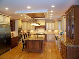 best kitchen layout with island kitchen island large size three blue pendant lamp with recessed lighting in white ceiling in best lighting for kitchen