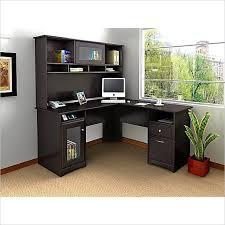 home office desk hutch. bush cabot l shaped computer desk with hutch in espresso oak home office e