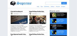 blogger templates supreme responsive blogger template v1