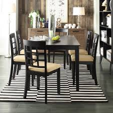 black dining set with window back side chairs 7 piece cbe heated cooled chair