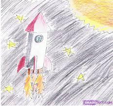 Image result for drawn Rocket