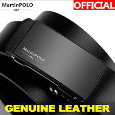 <b>MartinPOLO Automatic</b> Toothless Alloy <b>Buckle Men</b> Belt Genuine ...