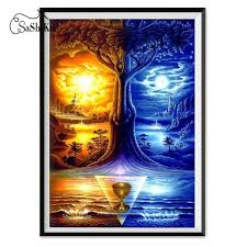 <b>5D</b> Diamond Painting Illustrator Tree at Dusk Night Stitch – Inlovearts