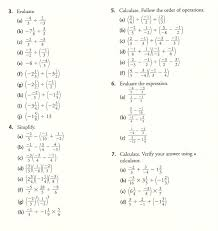 Order of Operations with Fractions Worksheets, simplifying ...Order of Operations with Fractions Worksheets