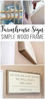 Simple <b>Wood Frame</b> for a <b>Canvas</b>